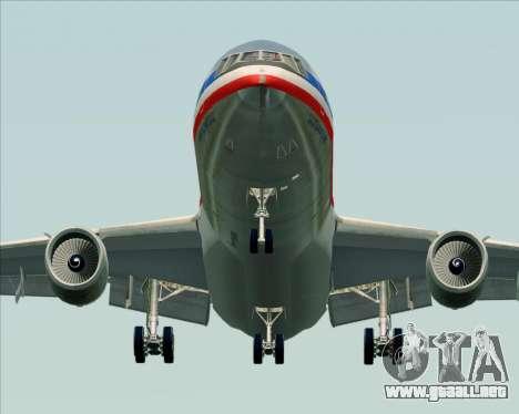 McDonnell Douglas DC-10-30 American Airlines para GTA San Andreas vista hacia atrás