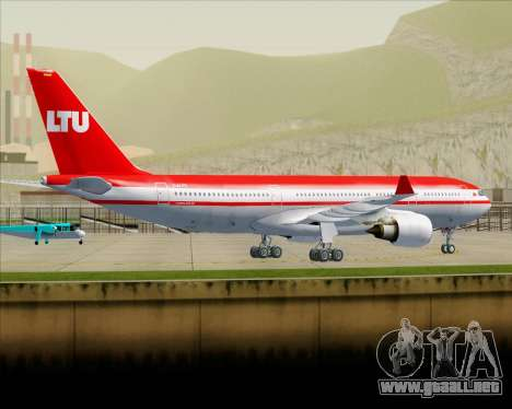 Airbus A330-200 LTU International para vista inferior GTA San Andreas