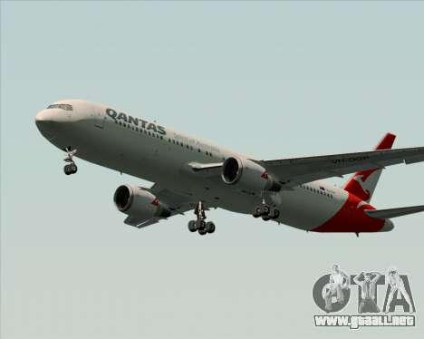 Boeing 767-300ER Qantas (New Colors) para GTA San Andreas vista posterior izquierda