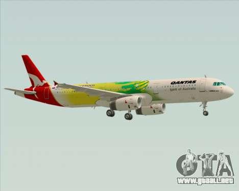 Airbus A321-200 Qantas (Socceroos Livery) para vista inferior GTA San Andreas