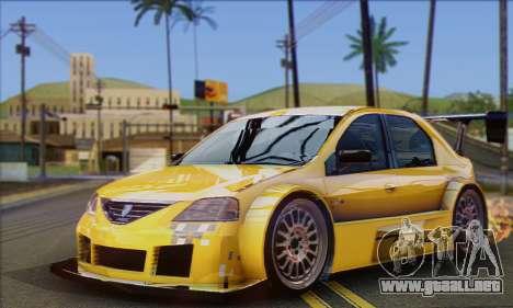Dacia Logan Trophy Edition 2005 para visión interna GTA San Andreas