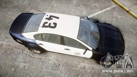GTA V Cheval Fugitive LS Police [ELS] Slicktop para GTA 4 visión correcta