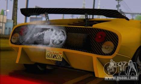 Pegassi Infernus para GTA San Andreas vista posterior izquierda