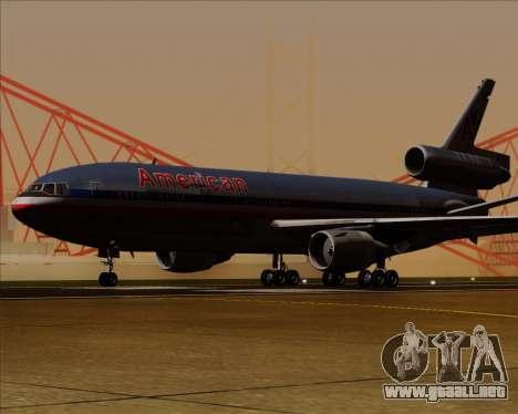McDonnell Douglas DC-10-30 American Airlines para GTA San Andreas vista posterior izquierda