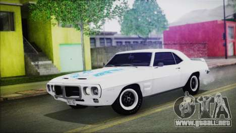 Pontiac Firebird Trans Am Coupe (2337) 1969 para la vista superior GTA San Andreas