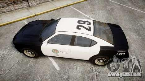 GTA V Bravado Buffalo LS Police [ELS] Slicktop para GTA 4 visión correcta