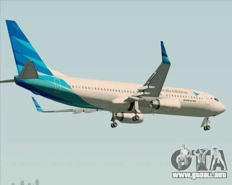 Boeing 737-800 Garuda Indonesia para vista lateral GTA San Andreas
