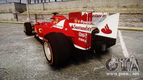 Ferrari F138 v2.0 [RIV] Massa THD para GTA 4 Vista posterior izquierda
