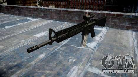 Rifle de M16A4 ACOG destino para GTA 4