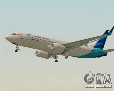 Boeing 737-800 Garuda Indonesia para visión interna GTA San Andreas