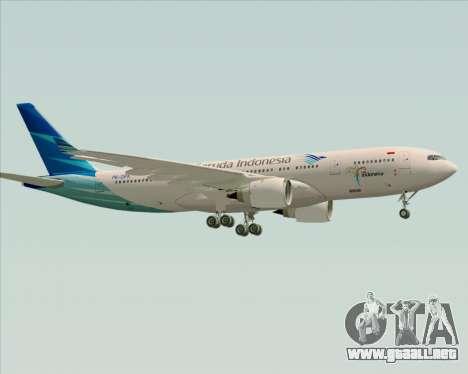 Airbus A330-243 Garuda Indonesia para la visión correcta GTA San Andreas