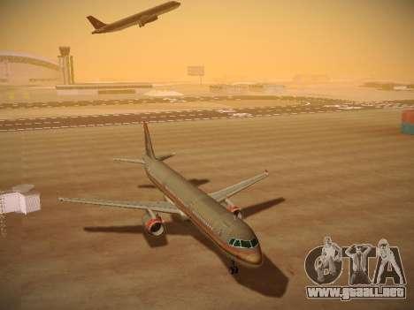 Airbus A321-232 Royal Jordanian Airlines para GTA San Andreas vista hacia atrás