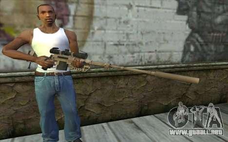 Rifle De Francotirador Cheytac M200 Intervention para GTA San Andreas tercera pantalla