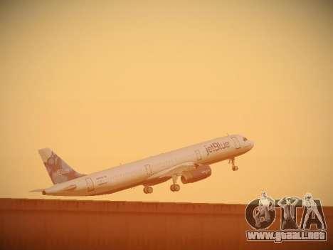 Airbus A321-232 jetBlue La vie en Blue para vista inferior GTA San Andreas