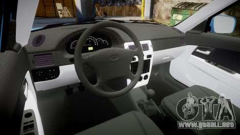 VAZ-2170 Priora Cosas para GTA 4 vista interior