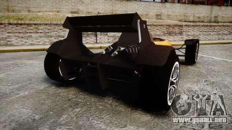 Caparo T1 para GTA 4 Vista posterior izquierda