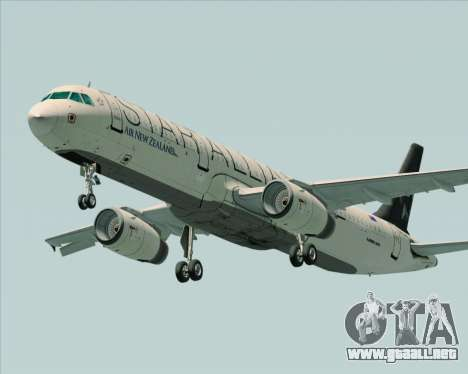 Airbus A321-200 Air New Zealand (Star Alliance) para visión interna GTA San Andreas