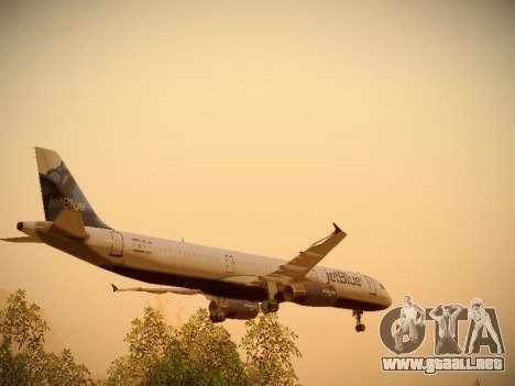 Airbus A321-232 jetBlue La vie en Blue para las ruedas de GTA San Andreas