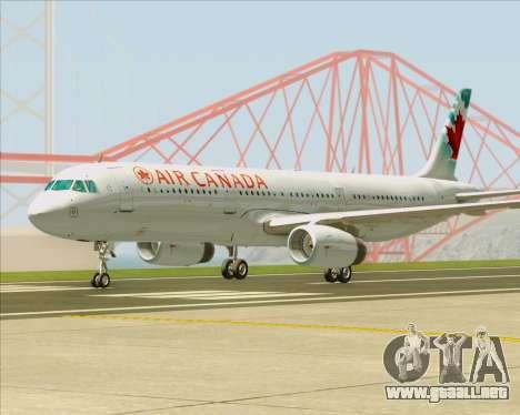 Airbus A321-200 Air Canada para GTA San Andreas left