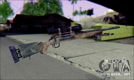 M24Jar rifle de Francotirador de SGW2 para GTA San Andreas segunda pantalla