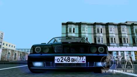 BMW 750iL para visión interna GTA San Andreas