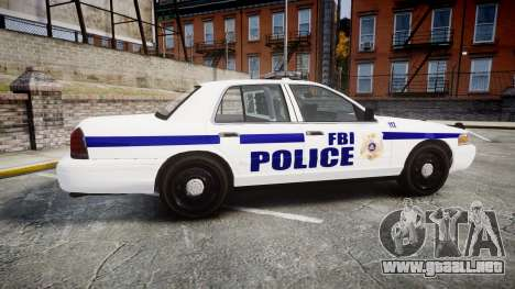 Ford Crown Victoria F.B.I. Police [ELS] para GTA 4 left