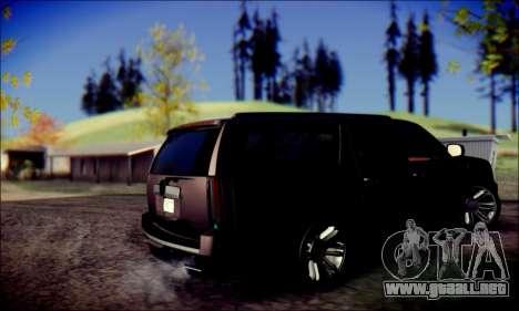 Cadillac Escalade Ninja para la visión correcta GTA San Andreas