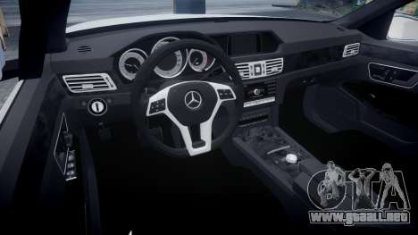 Mercedes-Benz E63 W213 AMG 2014 Vossen para GTA 4 vista hacia atrás