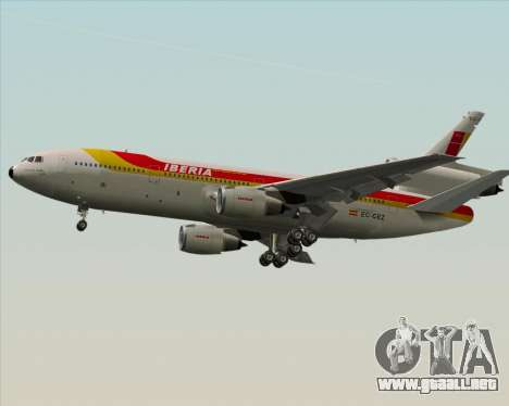 McDonnell Douglas DC-10-30 Iberia para vista lateral GTA San Andreas