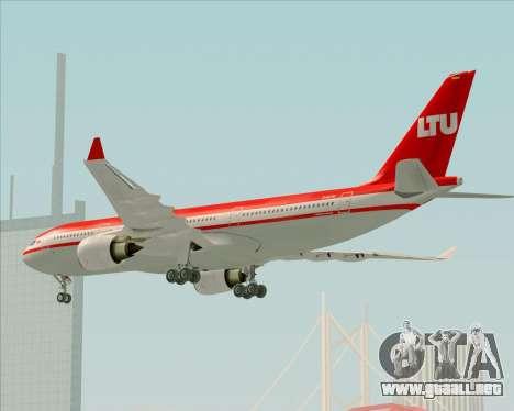 Airbus A330-200 LTU International para la vista superior GTA San Andreas