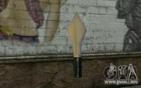 Knife from Cutscene para GTA San Andreas segunda pantalla