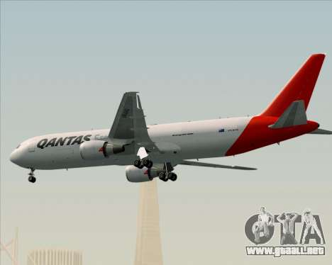 Boeing 767-300F Qantas Freight para la vista superior GTA San Andreas
