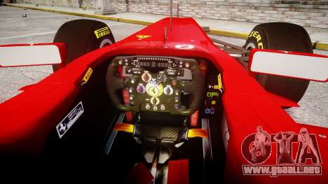 Ferrari 150 Italia Massa para GTA 4 vista hacia atrás