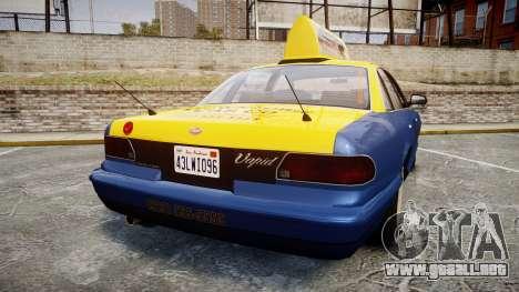 Vapid Stanier Taxi DCC para GTA 4 Vista posterior izquierda