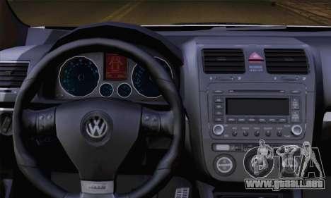 Volkswagen Golf 5 (ELM) para GTA San Andreas vista posterior izquierda