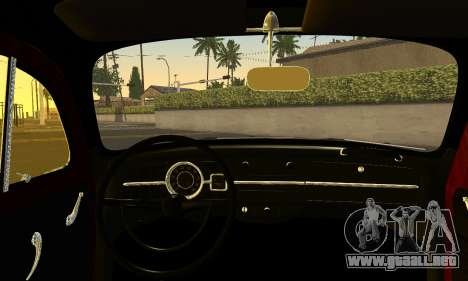 Volkswagen Fusca 1976 Rust Camber para GTA San Andreas vista posterior izquierda