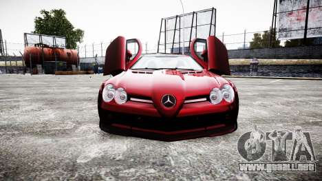 Mercedes-Benz SLR 722 2005 para GTA 4 vista lateral
