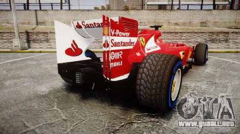 Ferrari F138 v2.0 [RIV] Massa TFW para GTA 4 Vista posterior izquierda