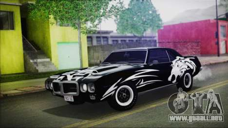 Pontiac Firebird Trans Am Coupe (2337) 1969 para GTA San Andreas interior