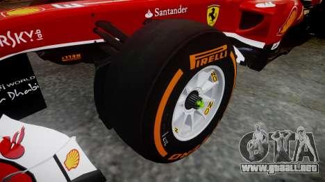 Ferrari F138 v2.0 [RIV] Massa THD para GTA 4 vista hacia atrás