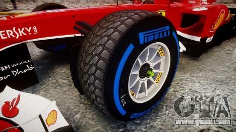 Ferrari F138 v2.0 [RIV] Massa TFW para GTA 4 vista hacia atrás