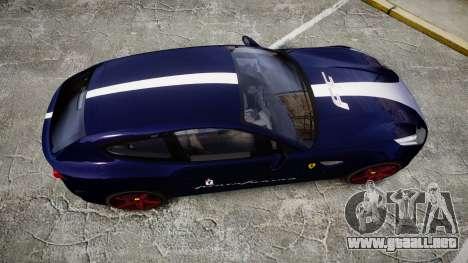 Ferrari FF 2012 Pininfarina Blue para GTA 4 visión correcta