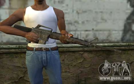 M16A1 from Battlefield: Vietnam para GTA San Andreas tercera pantalla