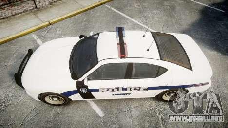 GTA V Bravado Buffalo Liberty Police [ELS] para GTA 4 visión correcta