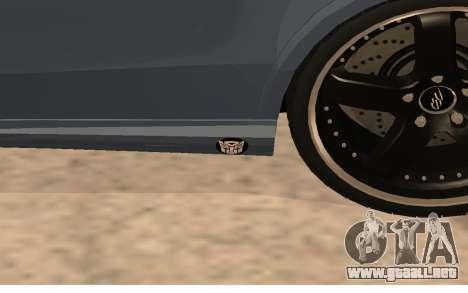 Mercedes-Benz W212 (Wheeljack from TF 3) para GTA San Andreas vista hacia atrás