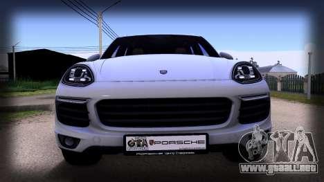 Porsche Cayenne 2015 para GTA San Andreas vista posterior izquierda