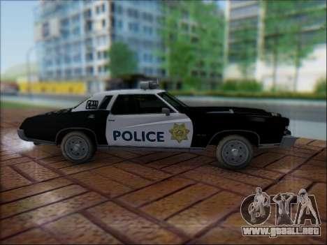 Chevrolet Monte Carlo 1973 Police para visión interna GTA San Andreas