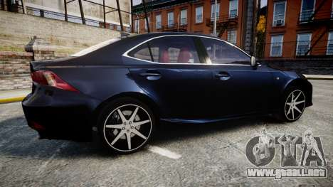 Lexus IS 350 F-Sport 2014 Rims2 para GTA 4 left
