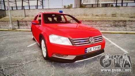 Volkswagen Passat 2014 Unmarked Police para GTA 4