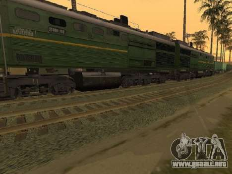 Locomotora 2TE10L-079 para GTA San Andreas vista posterior izquierda